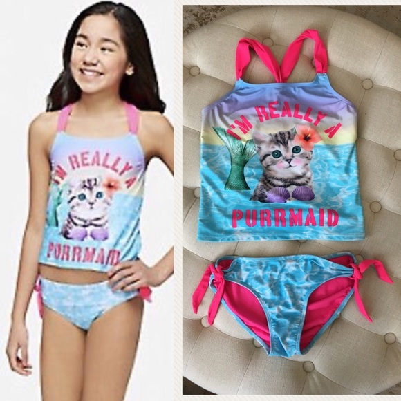 425cc79fd21 Justice Swim | Girls Purrmaid Suit Bundle Size 1012 | Poshmark